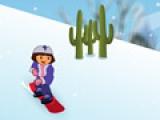 Дора на сноуборде