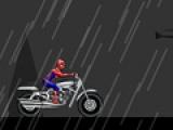 Человек паук едет по городу