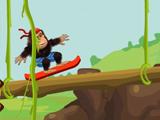 Езда гориллы в джунглях