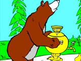 Маша и Медведь ставят самовар