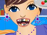 Энергичная девушка у стоматолога