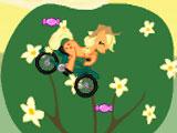 Маленький пони на велосипеде