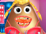 Девушка Поу у стоматолога