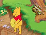 Винни Пух и Тигра прыгают за медом