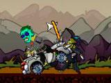Безумный автомобиль против зомби