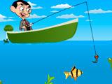 Мистер Бин на рыбалке