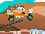 Экстремальный заснеженный грузовик
