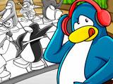Клуб Пингвинов раскраска