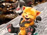Говорящий кот: Том и Джинджер катаются на санках