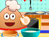 Поу готовит панкейки