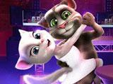 Говорящий кот Том и Анжела танцуют