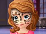 София, первый рисунок на лице