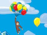 Любопытный Джордж летит на шарах
