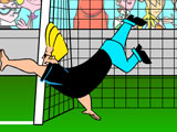Джонни Браво на воротах
