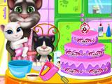 Семья Тома готовит торт