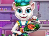 Анжела готовит