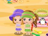 Маленькая Алиса день на пляже