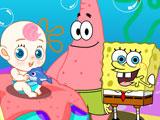 Спанч Боб и Патрик ухаживают за ребенком