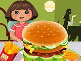 Дора: гамбургер в Макдональдсе