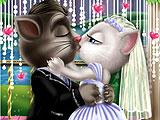 Том и Анжела: свадебный поцелуй