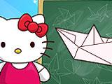 Хелло Китти: класс оригами
