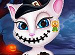 Говорящая Анджела - макияж на Хэллоуин