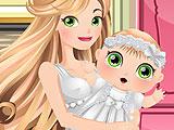 Беременная мама принцесса