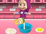 Маша готовит шоколадное печенье