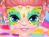 Боди-арт на лице Барби
