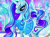 Ледяной пони в салоне для животных