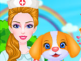 Маленький щенок у ветеринара