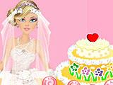 Золушка украшает свадебный торт