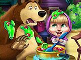 Маша и Медведь - пакости на кухне