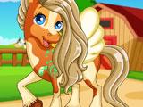 Лошадь в салоне причесок 2