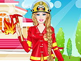 Барби пожарник