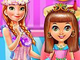 Маленькая принцесса в парикмахерской