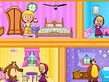 Маша и Медведь в кукольном домике