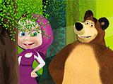 Маша и Медведь - скрытые предметы