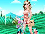 Барби на велопрогулке