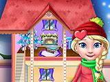 Украшение рождественского кукольного дома