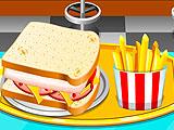 Ресторан: готовить сэндвич