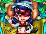 Раненая малышка Леди Баг