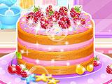 Лимонно-малиновый торт