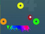 Мчащий цветной шарик