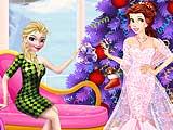 Девушки готовятся к рождественской вечеринке