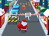 Бег Санты по улице