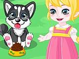 Малышка Анна: день со щенком