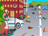 Эльза убирает город