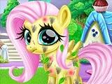 Ухаживать за маленькой пони Флаттершай