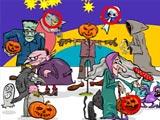Найти 5 различий на Хэллоуин